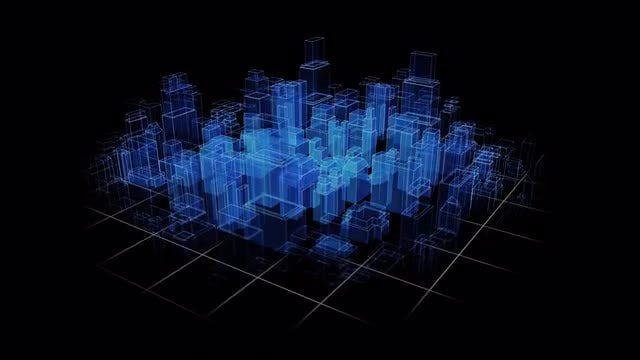 City Hologram: Stock Motion Graphics