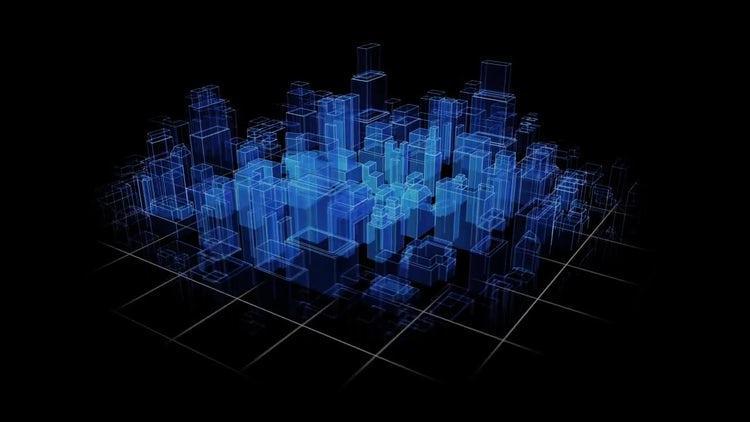 City Hologram: Motion Graphics