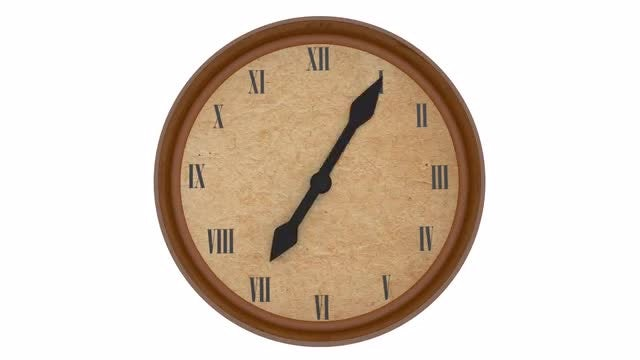 Clock Showing Time Passing: Stock Motion Graphics