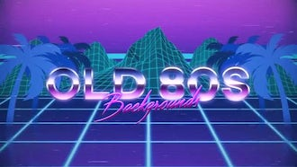 Old 80s Backgrounds: Motion Graphics