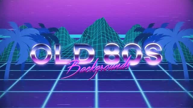 Old 80s Backgrounds: Stock Motion Graphics