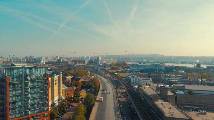 Industrial Developments In East London: Stock Video