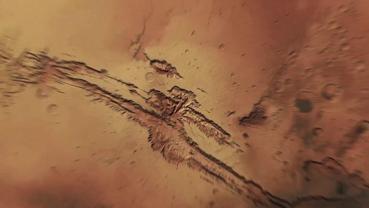 Planet Mars Close Up: Motion Graphics