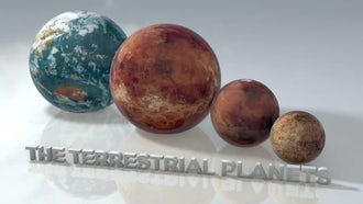 Marble Terrestrial Planets Pack: Motion Graphics