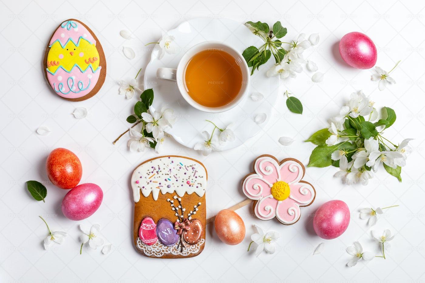 Easter Festive Arrangement: Stock Photos