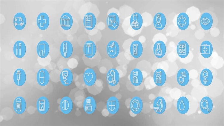 Healthcare Icons: Motion Graphics