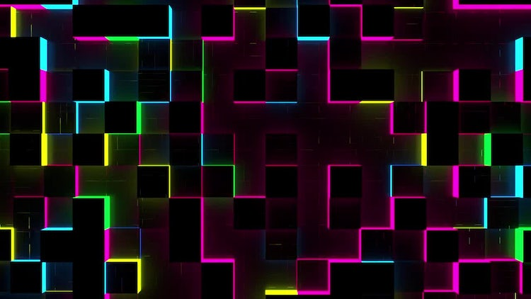 Glow Cubes Background: Motion Graphics