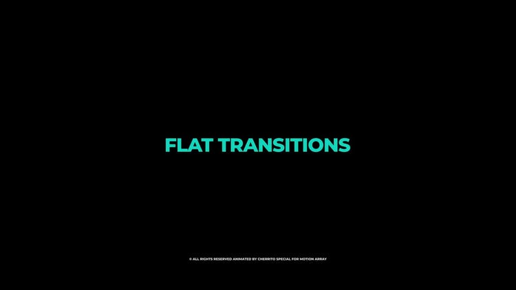 Flat Transitions: Premiere Pro Templates