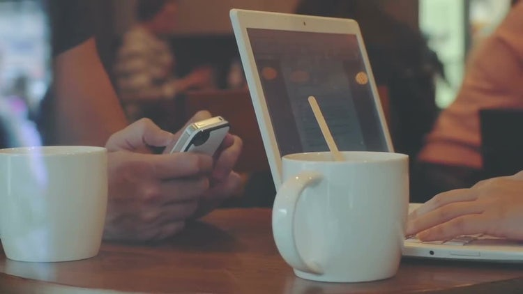 Working In Cafe: Stock Video