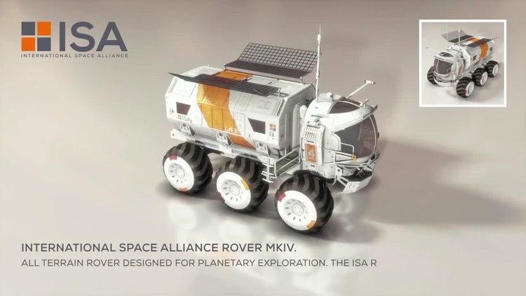 International Space Alliance Rover: Stock Motion Graphics