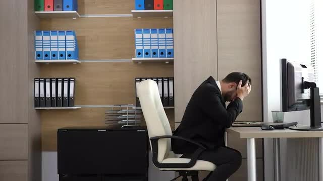 Tired Businessman: Stock Video