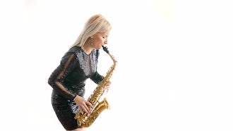 Musician Playing A Saxophone: Stock Video