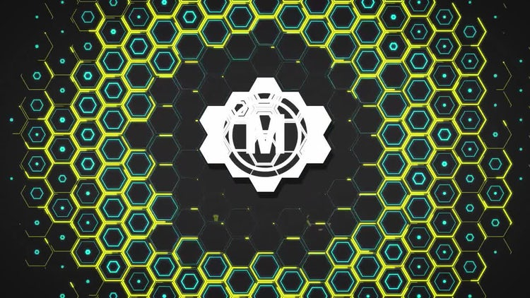 Hexagon Logo Opener: After Effects Templates