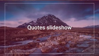 Quotes Slideshow: After Effects Templates