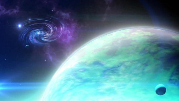 Far Planet Loop: Motion Graphics