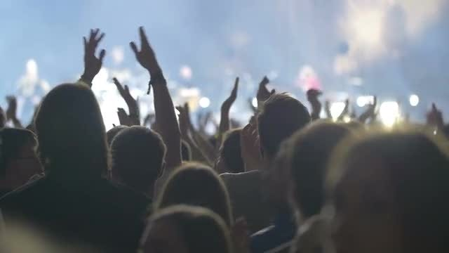 People Clapping At A Concert: Stock Video