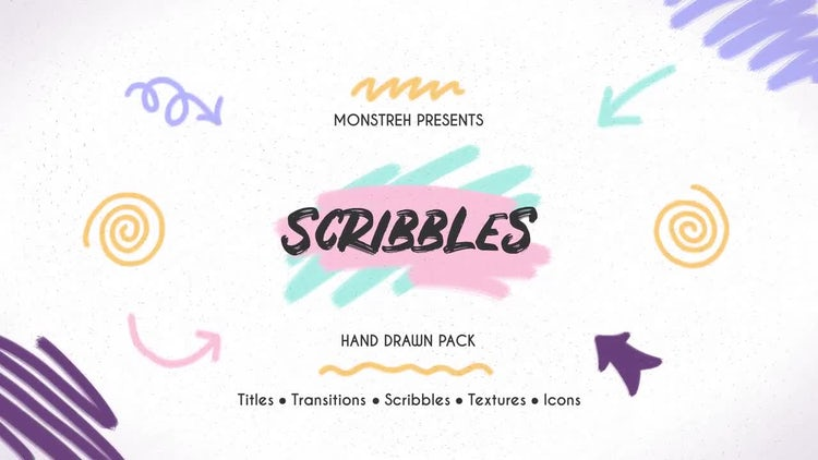 Scribbles. Hand Drawn Pack: Premiere Pro Templates