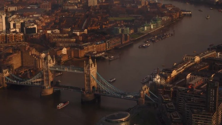 Aerial View Of London: Stock Video