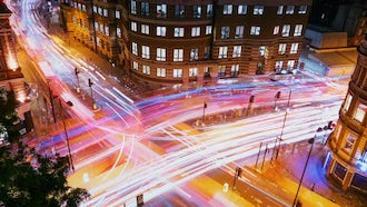 Traffic Light trails In London: Stock Video