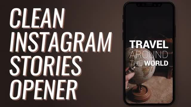 Clean Instagram Stories Opener: Premiere Pro Templates