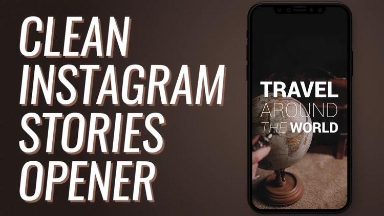 Clean Instagram Stories Opener: Premiere Pro Templates