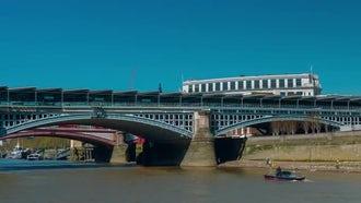 Nonstop POV Boat Trip - Thames: Stock Video