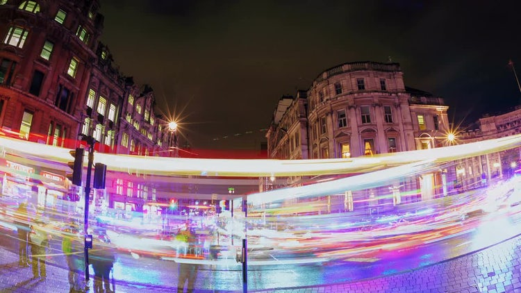 Time-Lapse Of Trafalgar Square, London: Stock Video