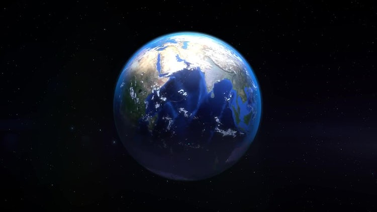 Realistic Rotation Of The Earth: Motion Graphics