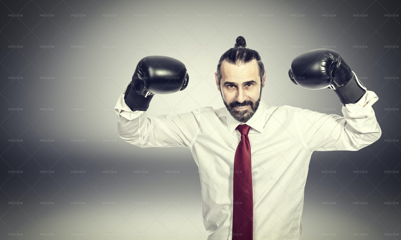 Businessman With Gloves: Stock Photos