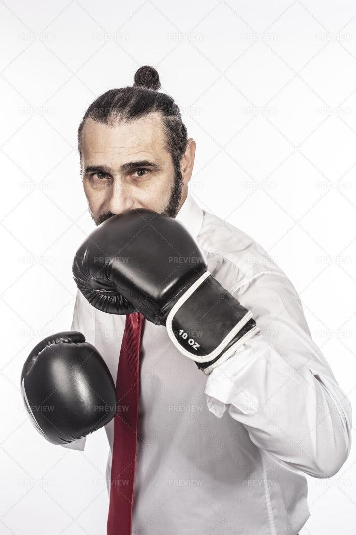 Businessman Boxing: Stock Photos