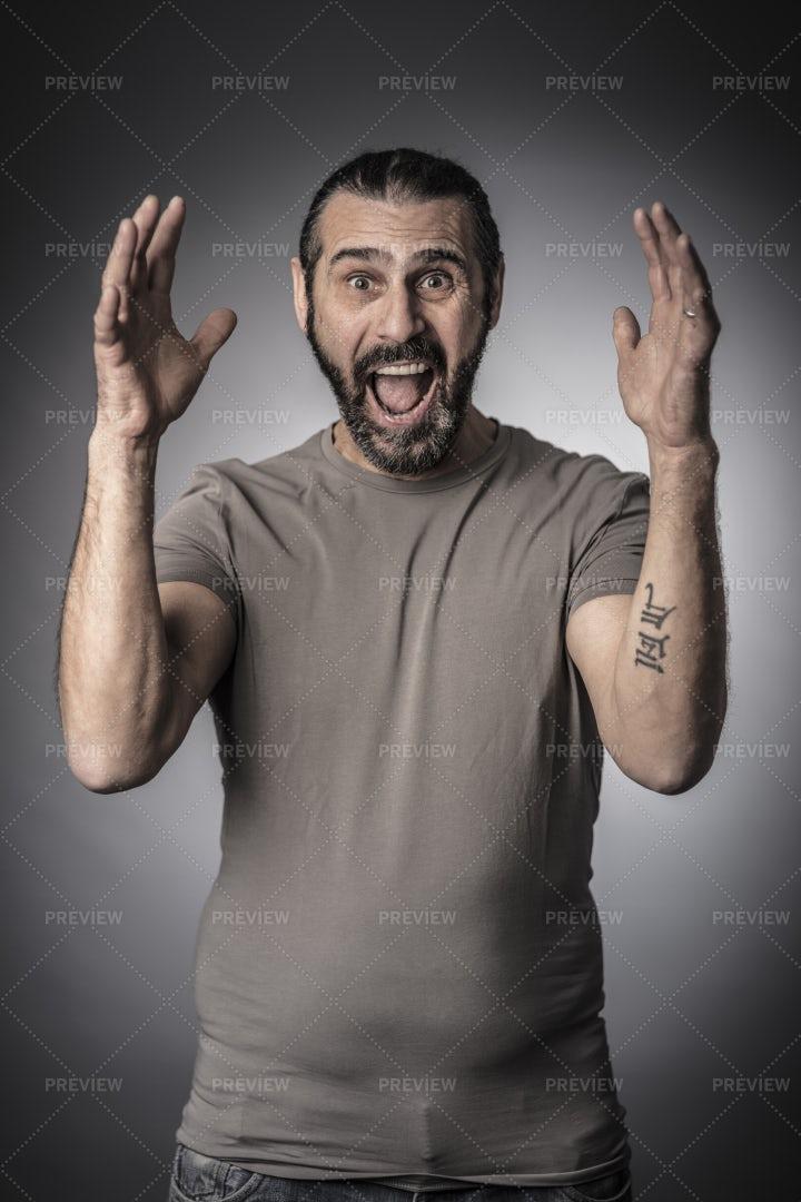 Man Showing Surprise: Stock Photos
