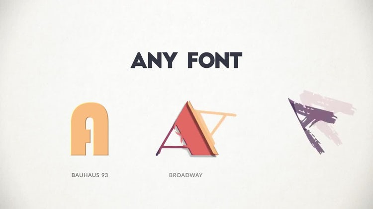 Paper Animated Typeface: After Effects Templates