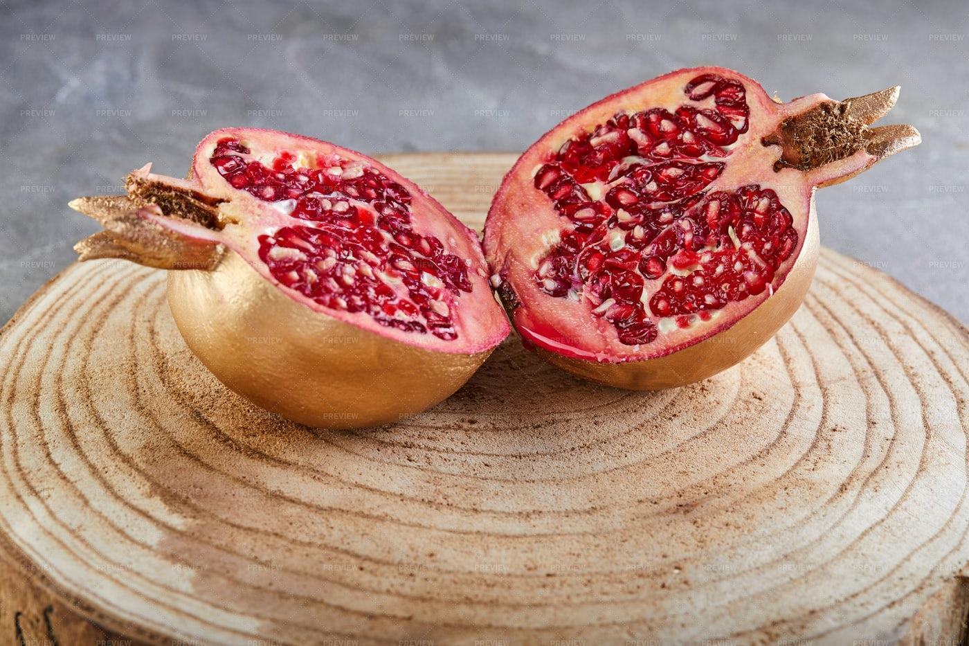 Golden Pomegranate: Stock Photos