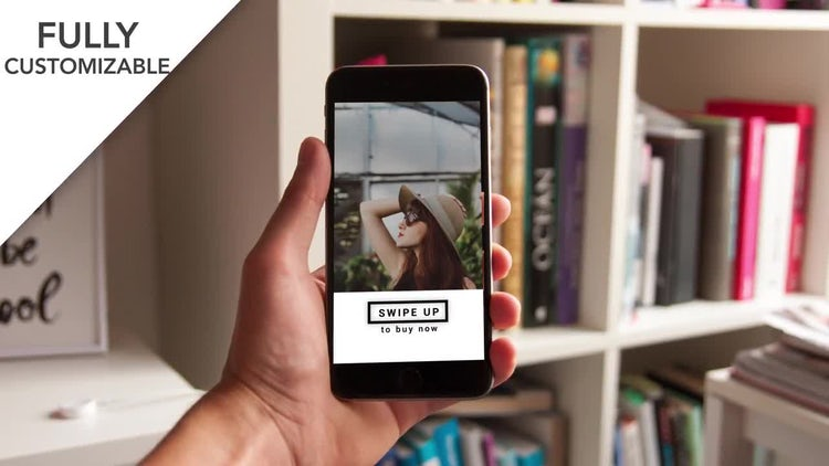 Instagram Swipe Up Stories: After Effects Templates