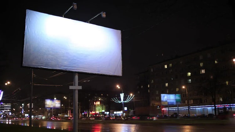 Time Lapse Of Empty Billboard: Stock Video