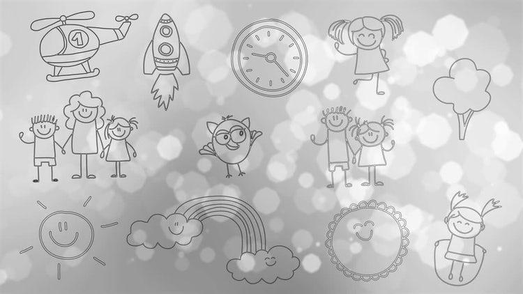 Hand-drawn Children's Doodles : Motion Graphics