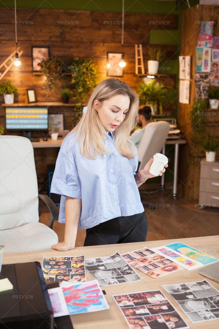 Creative Designer Working: Stock Photos