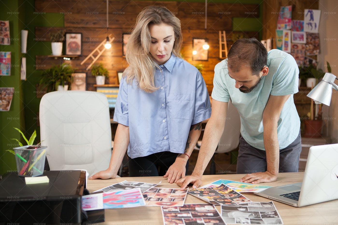 Female Tailor Sharing Ideas: Stock Photos