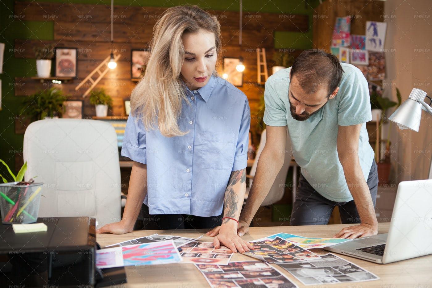 Team Of Creative Fashion Designers: Stock Photos