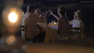 A Round Table Family Dinner: Stock Video