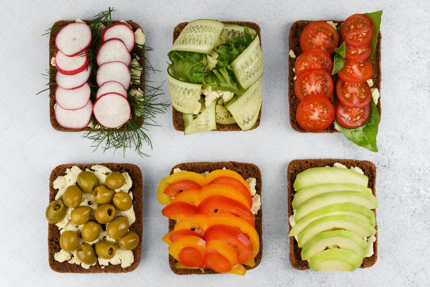 Open Faced Sandwiches: Stock Photos