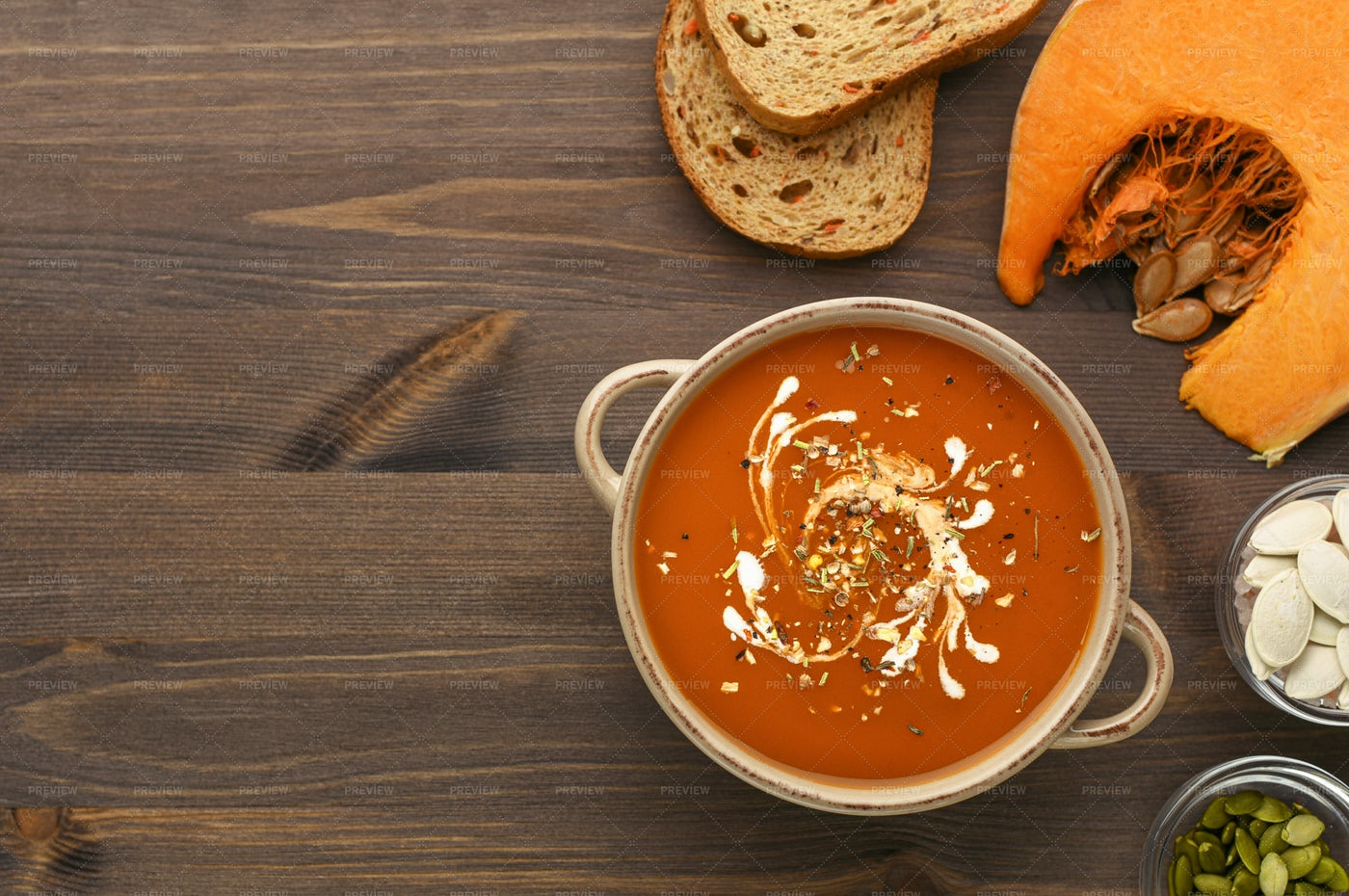 Pumpkin Soup: Stock Photos