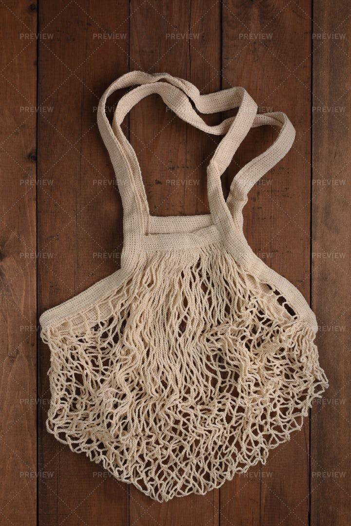 Cotton Mesh Bag: Stock Photos