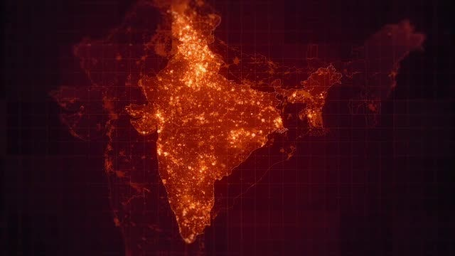 India Maps Night Lighting Pack: Stock Motion Graphics