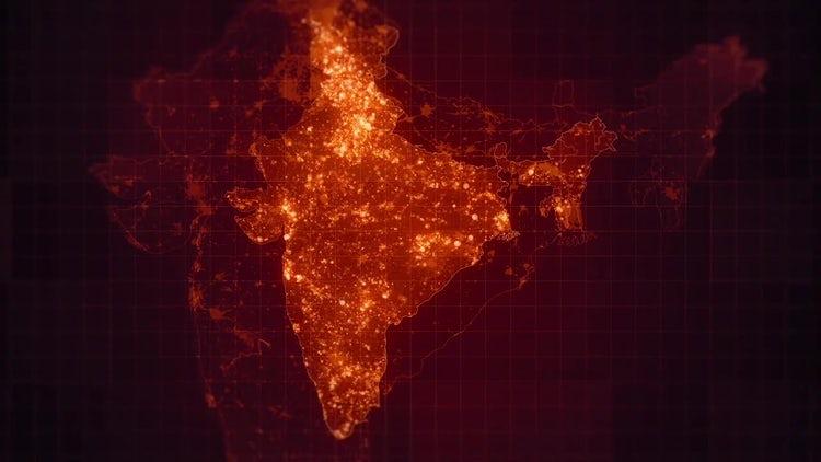 India Maps Night Lighting Pack: Stock Motion Graphics