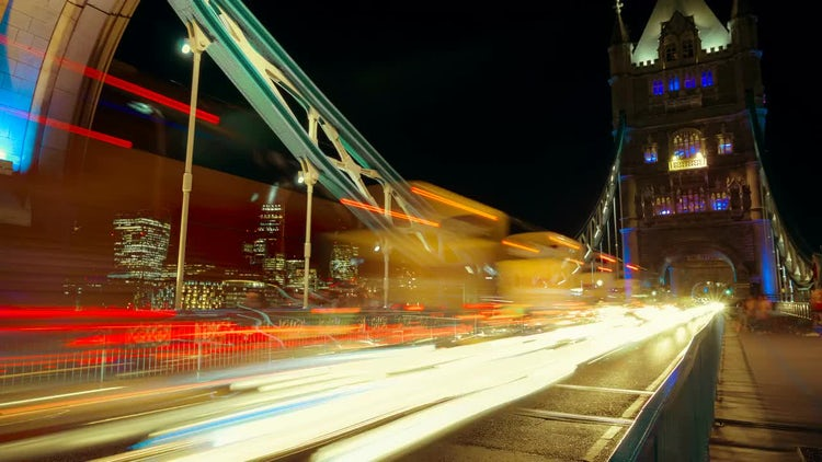 Tower Bridge Timelapse, London, England: Stock Video