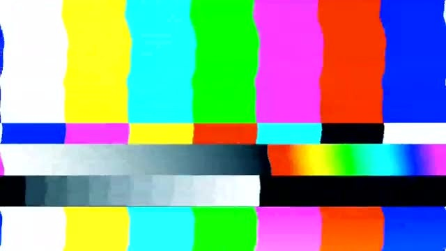 Static And TV Test Pattern: Stock Motion Graphics