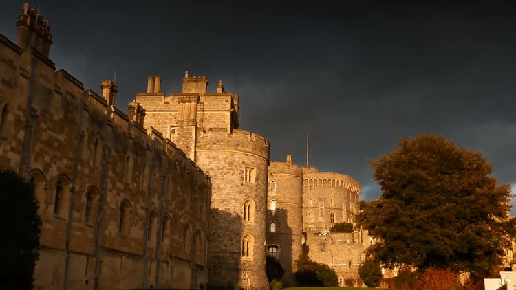 Windsor Castle Walls : Stock Video