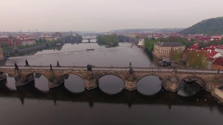 Charles Bridge In Prague: Stock Video