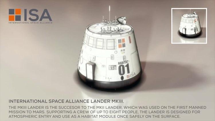 International Space Alliance Lander: Motion Graphics